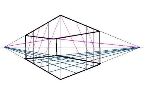 成角透视室内步骤图