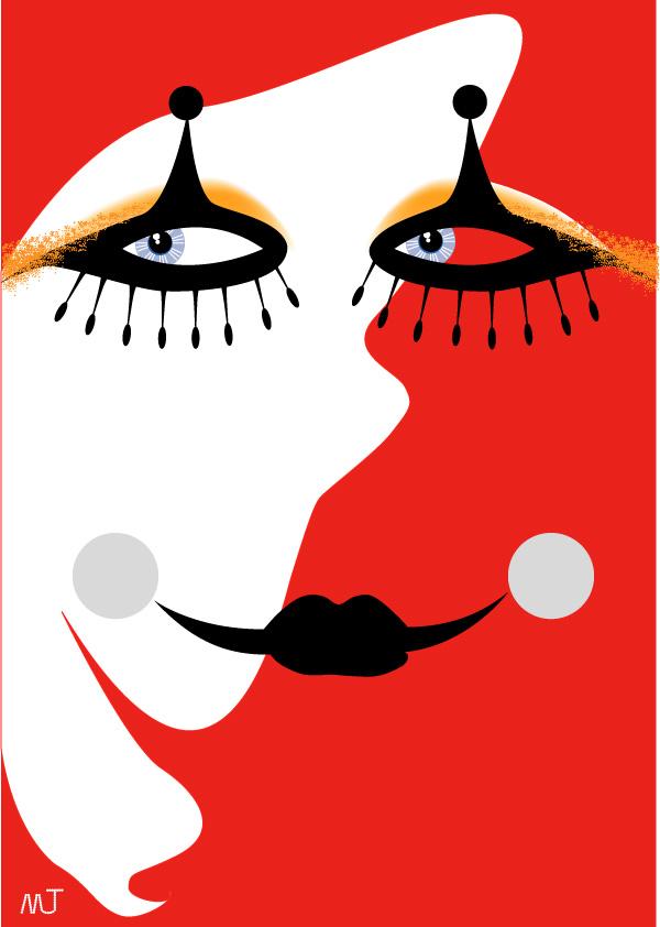 小丑鼻子矢量图