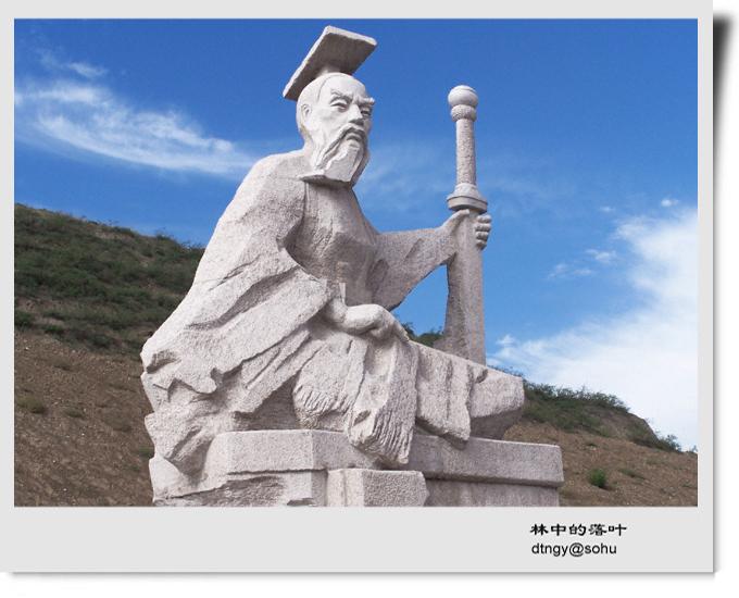 大通老爷山关公庙雕塑图片