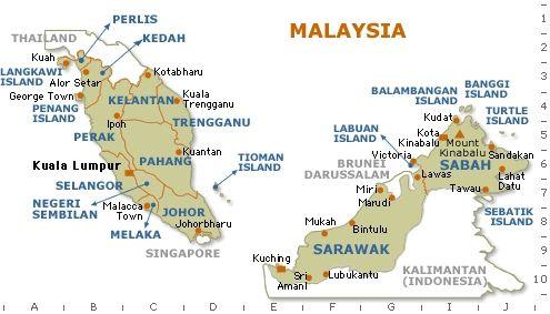 马来西亚部分地图-生活在大马-搜狐博客
