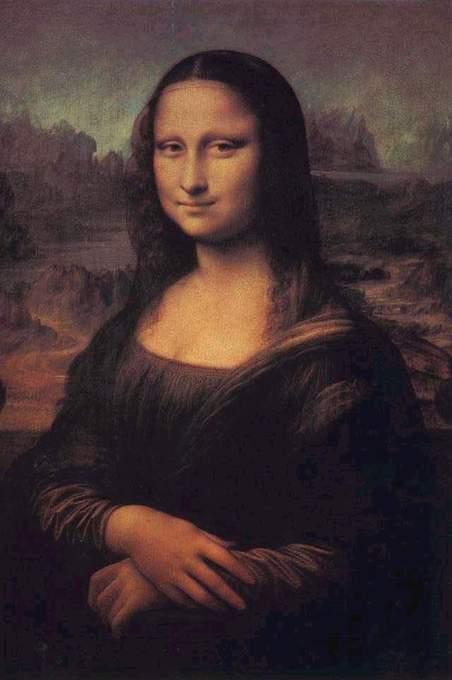 """小的时候,也就是小学的时候,那时侯的美术书薄薄的,里面就有""""蒙娜丽莎图片"""