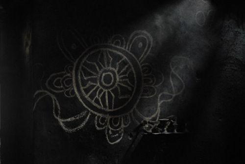 在墙上发现的藏族代表吉祥的图案