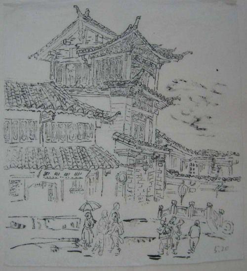 这是丽江古城图片