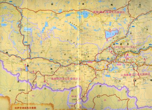 阿拉善左旗到胡杨林地图
