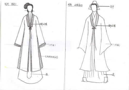 古代汉服手绘图片