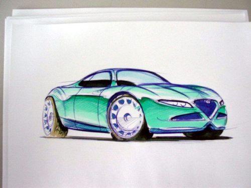 工业设计汽车马克笔手绘