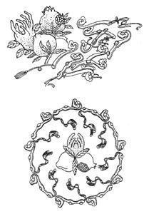 三多指佛手,仙桃和石榴.寓福瑞多寿, 吉祥如意图片