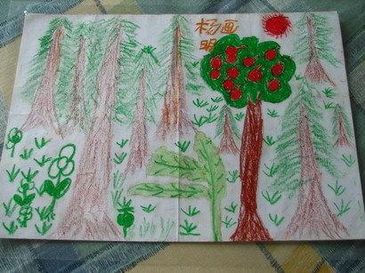 幼儿园森林绘画作品分享展示