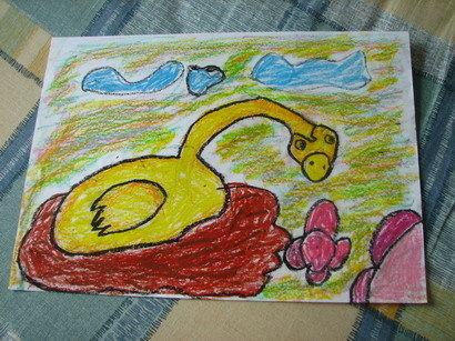 画(幼儿园大班时期)油画棒画图片