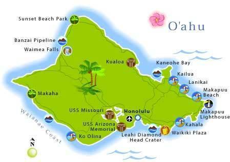 按面积排列,瓦湖岛是夏威夷群岛中的第三大岛