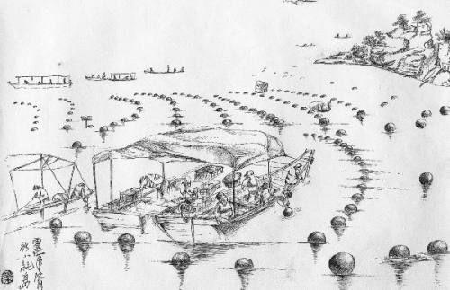 海岛垦荒简笔画