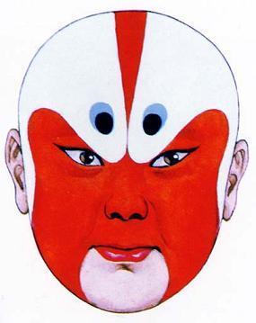红脸戏曲人物手绘